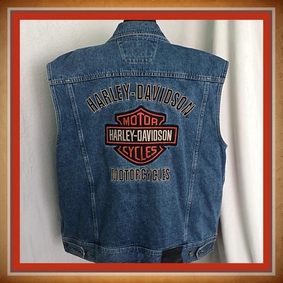 d8a421fb7a75 Harley Davidson / XL Bar & Shield Logo Denim Vest